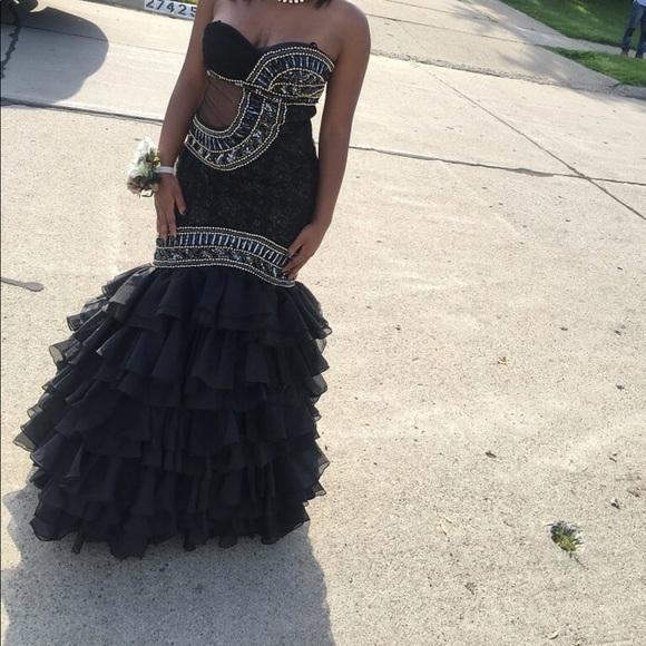 Dresses   Black Strapless Prom Dress   Poshmark